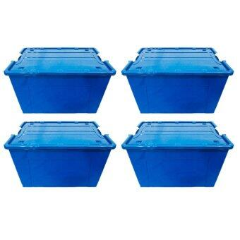 DMT กล่องอเนกประสงค์ (มีล้อ) 56ลิตร (สีน้ำเงิน) จำนวน 4ใบ