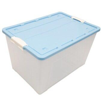 เปรียบเทียบราคา DMT กล่องอเนกประสงค์ (มีล้อ) No.C093B 93ลิตร (สีฟ้า) จำนวน 4 ใบ