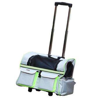 ต้องการขายด่วน Dodo กระเป๋าสัตว์เลี้ยงคุณภาพดี ลากและสะพายได้ เหมาะทั้งสุนัขและแมว (สีเทา)
