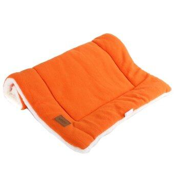 Dog Crate Mat Kennel Cage Pad Bed size S (orange)