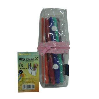 สนใจซื้อ Dong-A ปากกา my color2 เซ็ท 15 สี ซิป สีชมพู