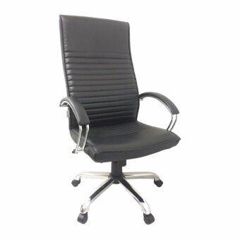 DSB Decor เก้าอี้สำนักงานสูง มีสวิงปรับโยก ปรับระดับได้ รุ่น CO006M-B (สีเบาะดำ/ขาชุป)