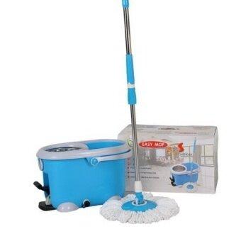 Easy mop ชุดถังปั่น รุ่น QQ Stanless (Blue)
