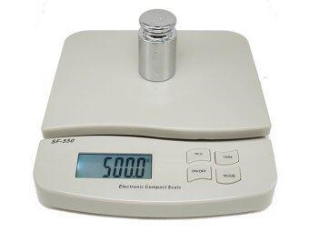 Electronic Scale LED รุ่น SF-55025kg x 1gสีขาว