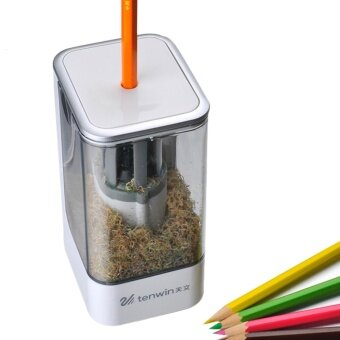 Electric Pencil Sharpener Helical steel cutter Heavy duty HomeSchool Office Desktop Stationery - intl
