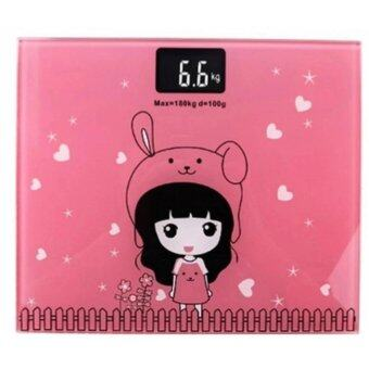 Electronic weight scale เครื่องชั่งน้ำหนักดิจิตอล กาตูน (pink)