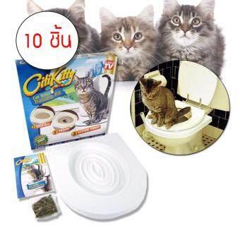 Elit Citikitty ชุดฝึกแมวเข้าห้องน้ำ สำหรับแมวทุกวัย Cat Toilet Training 10ชุด