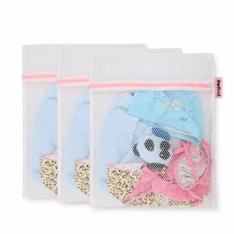 eMylo Zippered Mesh Laundry Wash Bags Foldable Delicates LingerieBra Socks Underwear Washing Machine Clothes Protection Net
