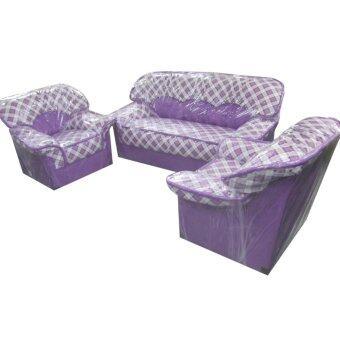 โปรโมชั่นพิเศษ ENZIO ชุดโซฟารับแขก 2+1+1 ที่นั่ง หุ้มหนัง PVC รุ่น Sofa Set (3ชิ้น)(ส่งกรุงเทพฯและปริมณฑลเท่านั้น)