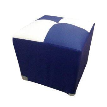 ประกาศขาย ENZIO สตูลหนัง PVC ลายสก๊อต รุ่น Stool - Blue