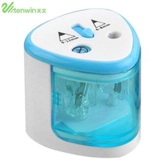 ERA TENWIN 8004 Double Holes Electric Pencil Sharpener SchoolPencil Sharpener Blue - intl