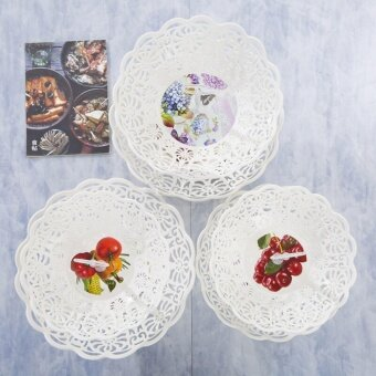 EsoGoal Fruit Plate 2 Tier Hollow Plate for Fruits Cakes DessertsCandy Buffet Stand for Home & Party - intl - 4