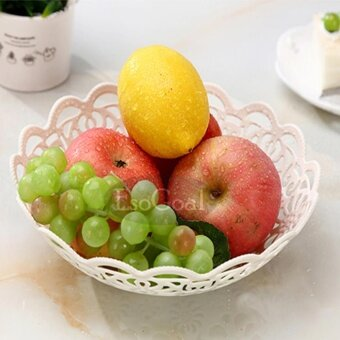 EsoGoal Fruit Plate Hollow Plate for Fruits Cakes Desserts CandyBuffet Stand for Home & Party - intl - 4