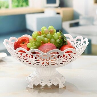 EsoGoal Fruit Plate Hollow Plate for Fruits Cakes Desserts CandyBuffet Stand for Home & Party - intl - 2