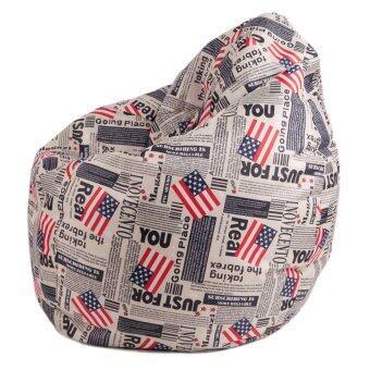 Esupersave เก้าอี้ Beanbag ทรงหยดน้ำ Ø80 ซม. (ลายธงชาติอเมริกา) - 4