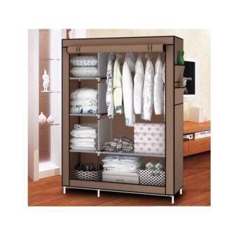 ETC Wardrobe ตู้เสื้อผ้า 2 บล็อค พร้อมผ้าคลุม(สีน้ำตาล) - ไซส์ใหญ่ รีวิว