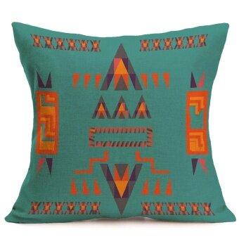 Fashion Home Decor Cotton Linen Throw Pillow Case Sofa Waist Cushion Cover - intl