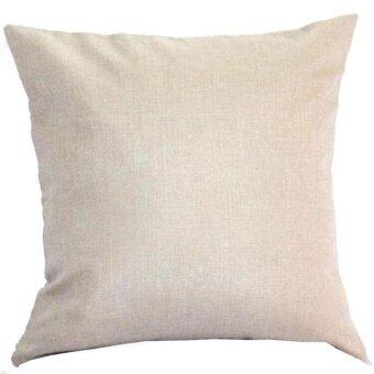 Finleystore Map Of The World Print Pillow Cases Linen Cotton Sofa Cushion Cover Home Decor - intl