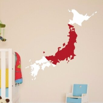Flag Map Of Japan Wall Vinyl Sticker Custom Made Home Decorationwall Wedding Decoration Wallpaper Fashion