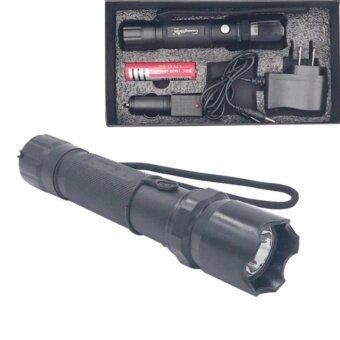 ไฟฉาย แรงสูง ซูมได้ Flashlight Torch Lamp 4 in 1 set-สีดำ