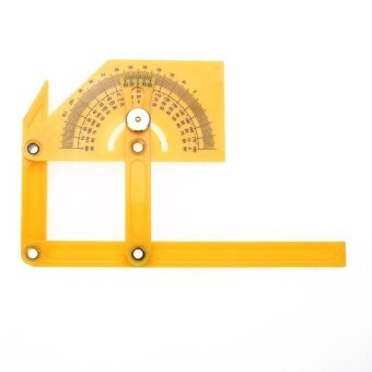 Flexible Plastic Angle Ruler Calibration Protractor Finder 180(Yellow) - intl