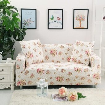 Flowers universal stretch sofa cover/anti-slip couch sofa cover forSingle seat (Length Range for 90-140cm / 35.43-55.12) - intl
