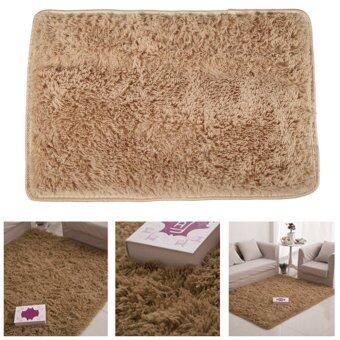 Fluffy Rugs Anti-Skid Shaggy Area Rug Dining Carpet Floor Mat Camel
