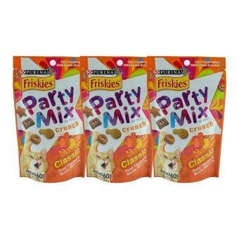 ลดราคา Friskies Partymix Classic ขนมแมว ปาร์ตี้มิกซ์ ชนิดเม็ด ทูน่า ไก่และโบนิโตะ 60g ( 3 units )