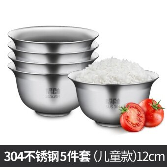 Fu shuai ชามสแตนเลสหนาสองชั้น กันความร้อนได้ดี ชามสำหรับใช้ในบ้าน