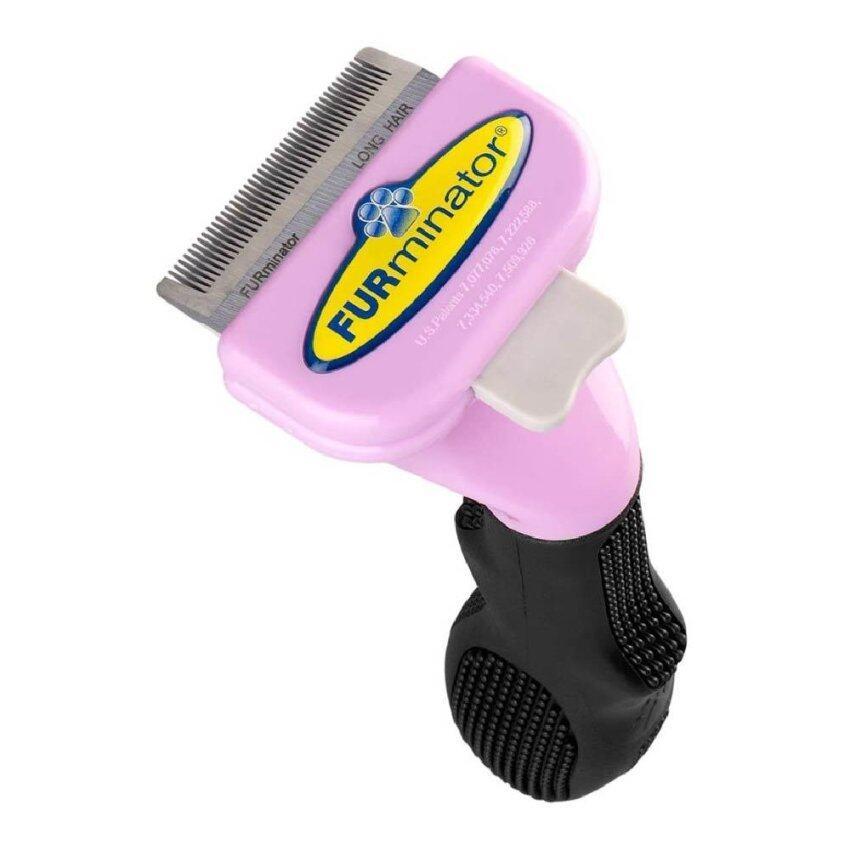 Furminator หวีสางขนแมว Cat FURminator Deshedding สำหรับขนยาว ไซส์ S (Pink)