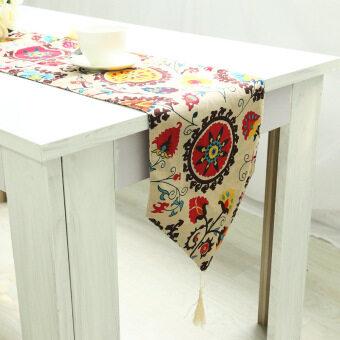 สไตล์ทีวีตู้ Gaibu โต๊ะกาแฟแผ่นผ้าฝ้ายผ้าปูโต๊ะ