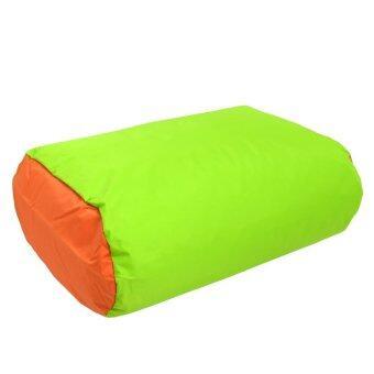 อยากขาย GALAXY ปลอก BEAN BAG ทรงสี่เหลี่ยมผืนผ้า รุ่น 0823-NCV(แบบไม่รวมเม็ดโฟม) สีเขียว-ส้ม