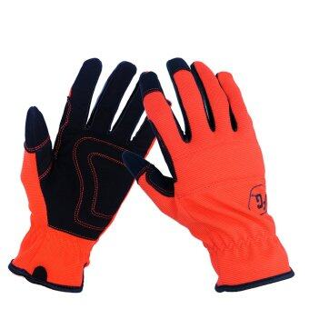 Garden Gloves Safety Gloves Gardening Work Glove (Red)