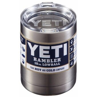 GETEK Yeti Rambler Stainless Steel Coffee Mug Cup Insulated 10oz Tumbler New - intl