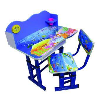 GIOCOSO โต๊ะเด็ก เก้าอี้เด็ก ชุดเฟอร์นิเจอร์เด็กเล็กเซทโต๊ะเก้าอี้เด็ก โต๊ะกิจกรรมเด็กเล็ก - (Blue)