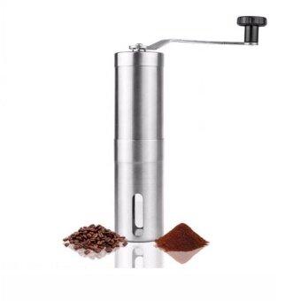 ต้องการขายด่วน Gion เครื่องบดเมล็ดกาแฟ สแตนเลส แบบมือหมุน Stainless Steel handCoffee Grinder (Silver)