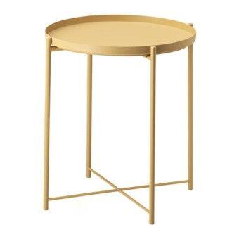 GLADOM โต๊ะกาแฟ โต๊ะกลาง โต๊ะข้าง Tray table 45*53 cm (เหลือง)