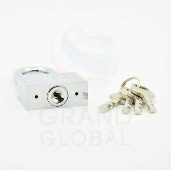 GLOBAL | แม่กุญแจชุบโครเมี่ยม ลูกปืน คอสั้น 30 มม. - 3