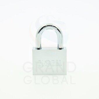 GLOBAL | แม่กุญแจชุบโครเมี่ยม ลูกปืน คอสั้น 30 มม. - 2