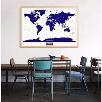 Glow-In-The-Dark Scratch World Map Wall Sticker - intl