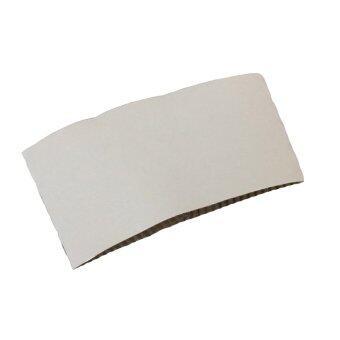 Goodwill ปลอกกระดาษลูกฟูก Size L สำหรับสวมแก้วพลาสติก PET 16/20/22ออนซ์ 1000อัน - ขาว
