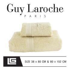 GuyLaroche Bathtowel Premium Set 38X80+80x152cm.(Free Gift Set )  N2