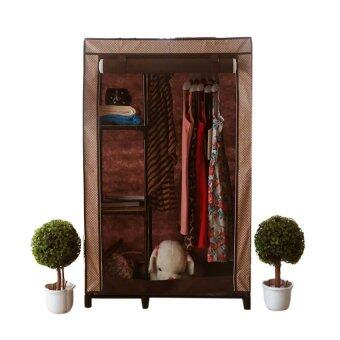 Hako ตู้เสื้อผ้าญี่ปุ่น - รุ่น Mini Habari Brownie ขนาด 75 x 50 x 122 ซม. สีโทนน้ำตาลลายจุด