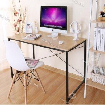 Hakone โต๊ะทำงาน โต๊ะคอมพิวเตอร์ หน้าโต๊ะไม้ขนาด 120x60x70ซม ขาเหล็กกล้าพ่นสีกันสนิม new step asia โต๊ะ โต๊ะไม้ โต๊ะสำนักงาน