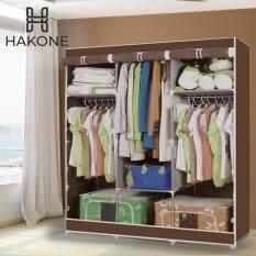 Hakone ตู้เสื้อผ้า พร้อมช่องเก็บของมีผ้าคลุม 3 บล็อค (สีน้ำตาล)