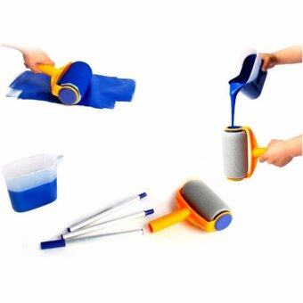 Harga Hanyu Multi-function Handle Paint Roller Set Painting Brush Point NPaint Household Decorative Tool(White+Orange) - intl