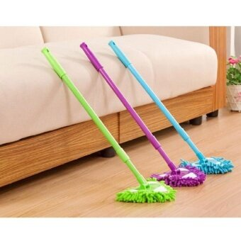 HappyLife Mini Cleaning Mop Dust Duster Household Cleaner PurpleBlue