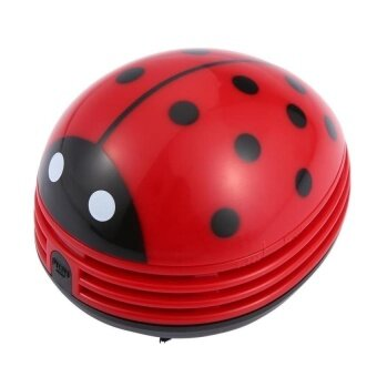 HappyLife Mini Table Dust Vaccum Cleaner Red Beetles Prints Design