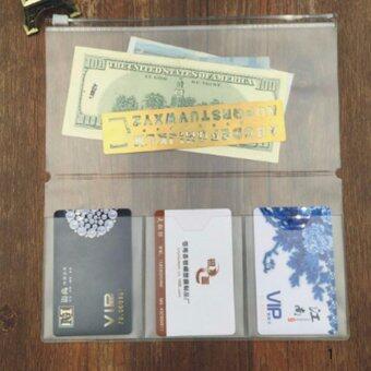 Hequ New 1Pc A6 Transparent Plastic Colorful Zipper Paper FileFolder Book Pencil Pen Case Bag File H01 - intl