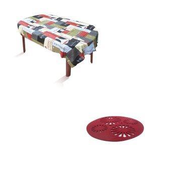 ต้องการขาย HHsociety ผ้าปูโต๊ะอาหาร ลาย Sommelier + HHsocietyแผ่นรองแก้วผ้าสักราด ลายสไตล์ญี่ปุ่น (สีเลือดหมู) 12 ชิ้น/แพ็ค